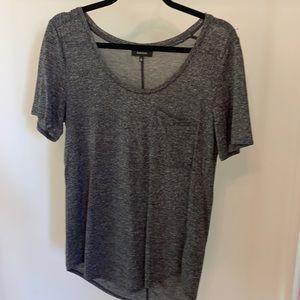 Aritzia Babaton heathered gray short sleeve tshirt